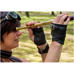 Leather half-gloves custom made by KvO Design